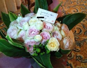 プロポーズで贈った花束