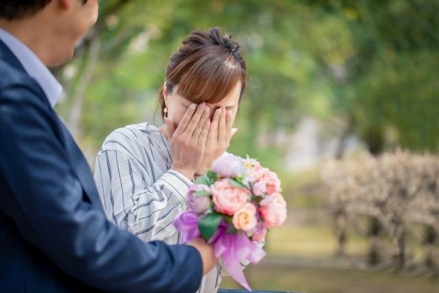 Proposal Impressed woman